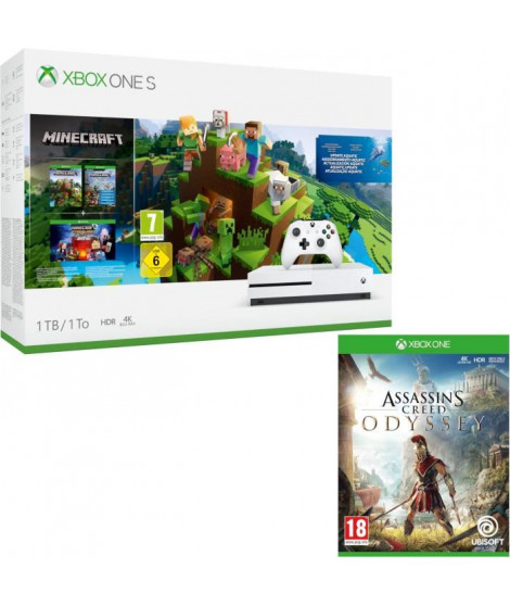 Xbox One S 1 To Minecraft + Assassin's Creed Odyssey