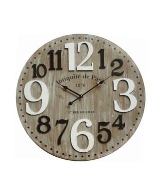 Horloge murale Paris - Cadrant MDF - Chiffre volume - Ø 60 x 4,5 cm