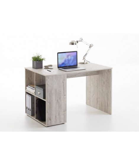 GENT Bureau contemporain décor chene sable - L 117 cm