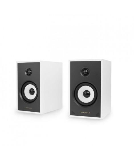 TRIANGLE SENSA SN03A Blanche -  Paire Enceintes actives - Bluetooth Aptx - Amplification 2 x 50 Watts