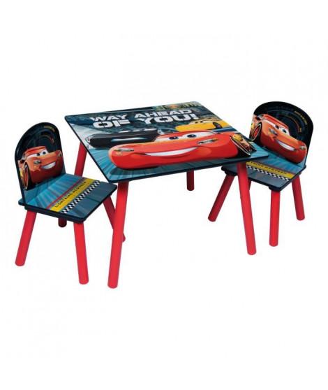 CARS 3 Table et 2 chaises enfant en bois MDF