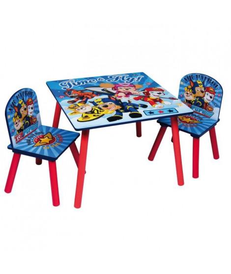 PAT PATROUILLE Table et 2 chaises enfant en bois MDF