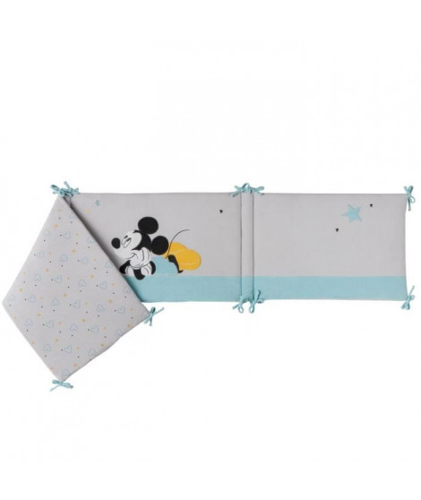 DISNEY Tour de lit adaptable Mickey My Story - Velours 100% polyester - 40 x 180 cm