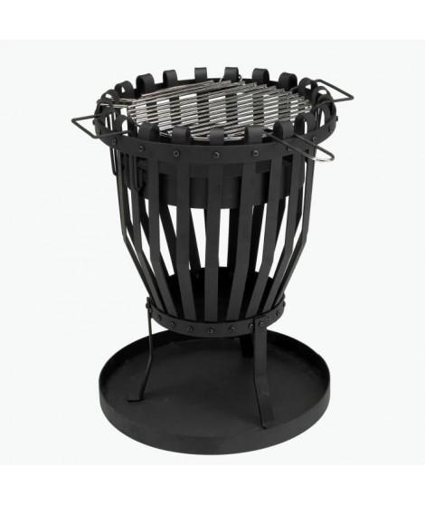 GRILL CHEF Brasero de luxe, Barbecue - Grille chromée - Surface de cuisson Ø 36 cm