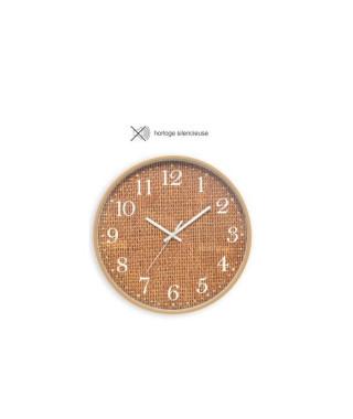 CASITA Horloge effet matiere sisal - Ø30 x 4,5 cm - Couleur naturel sisal