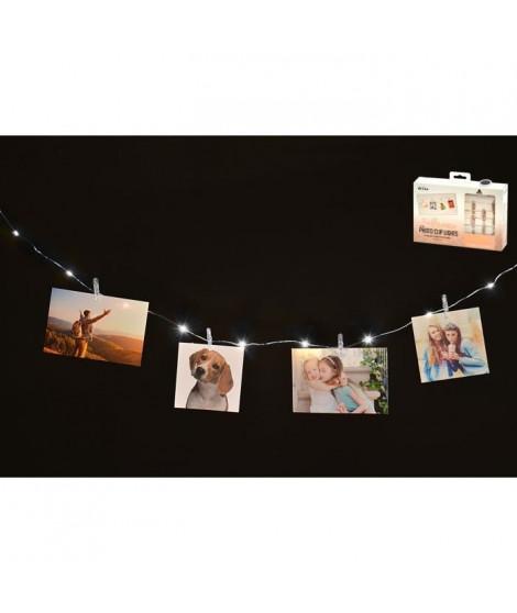 Guirlande lumineuse pour photos - 16 mini pinces - 230 cm