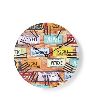 NEDIS Horloge murale circulaire - Ø 30 cm - Theme du voyage