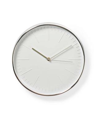 NEDIS Horloge murale circulaire - Ø 30 cm - Blanc et Argent