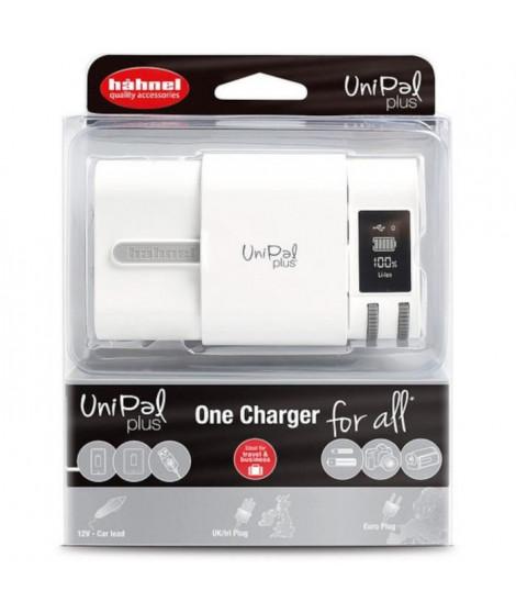 HAHNEL HLUNIPALPLUS Chargeur pour batteries Li-Ion 3,6 V, 3,7 V, 7,2 V et 7,4 V, AA, AAA Ni-MH et les mobiles et tablettes vi…