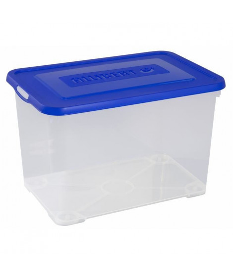 ALLIBERT Boîte de rangement Handy - Avec couvercle bleu - 65 L