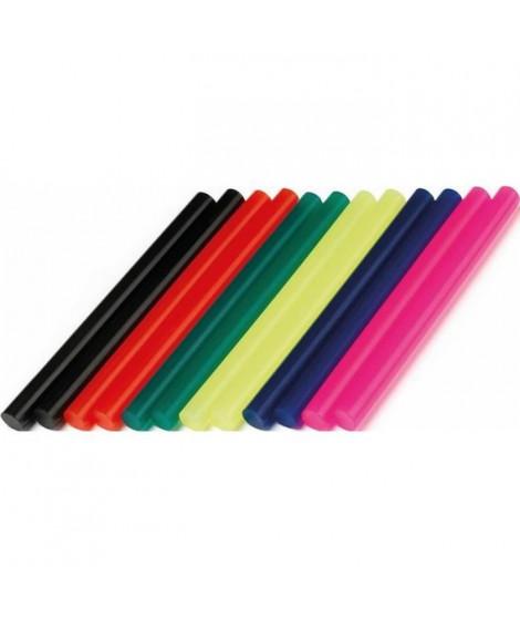 DREMEL lot de 12 batons de colle coloree 7mm 105°c