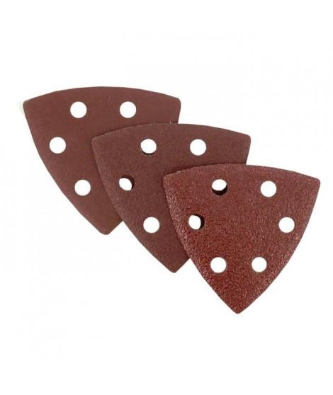 Lot de 12 triangles abrasifs - 93 x 93 mm