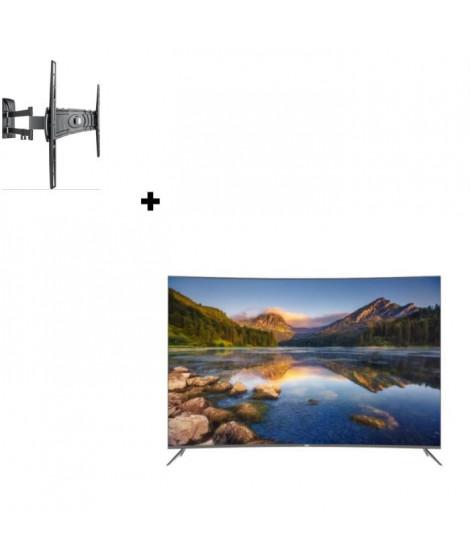 HAIER LE55Q6500U TV LED 4K UHD incurvée + MELICONI Curved 400DR