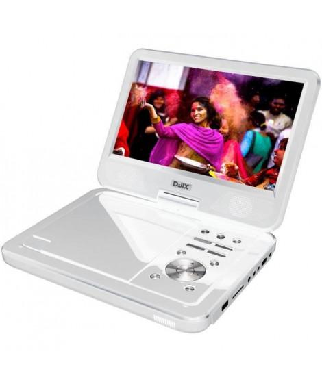 "D-JIX PVS1006-20 Blanc Lecteur DVD portable 10"" rotatif - Blanc"