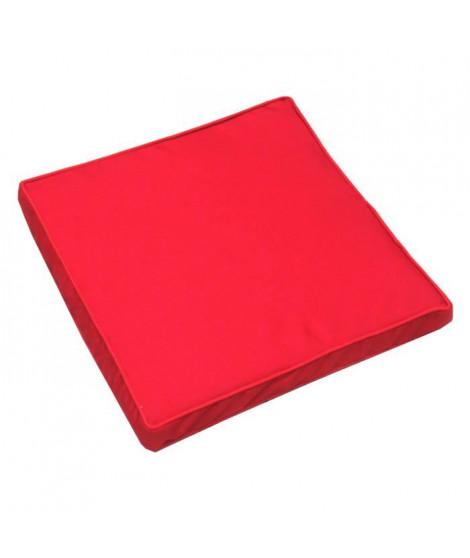 JARDIN PRIVE Galette de chaise Monte Carlo - 39 x 39 x 5 cm - Rouge Carmin