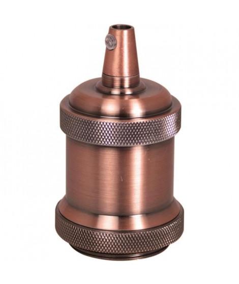 TIBELEC Douille E27 + cache-douille métal cuivre antique