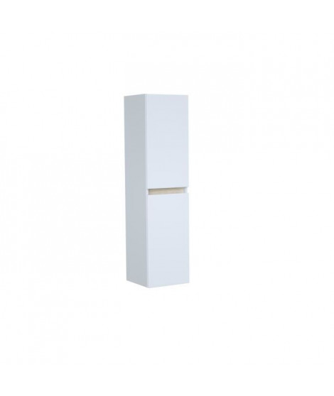 TOTEM Colonne de salle de bain 2 portes - L 30 x P 30 x H 120 cm