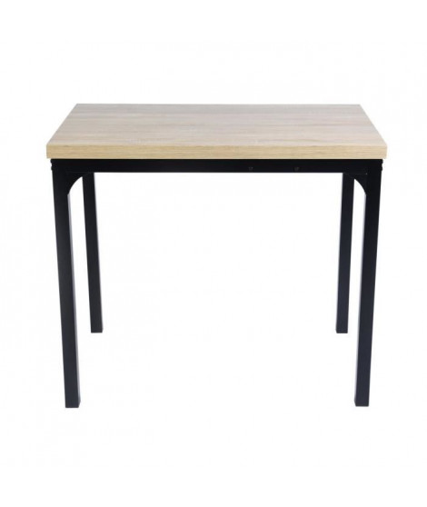 MARLOWE Table a manger extensible - Style industriel - L 60-120 cm