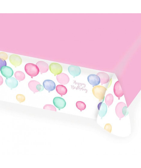 AMSCAN Nappe papier Happy Birthday Pastel 115 x 175 cm