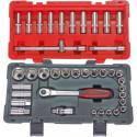 KS TOOLS Coffret de douilles et accessoires ULTIMATE 1/2'', 39 pieces