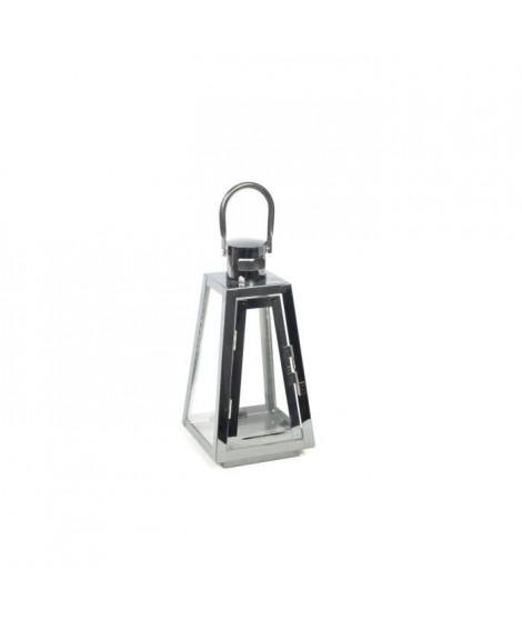 Lanterne en métal  - 18 x 18 x H39,5 cm - Noir