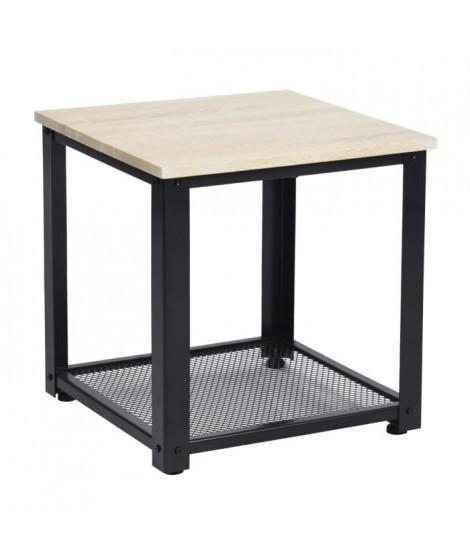 YORK Bout de canapé - Noir - L 45 cm