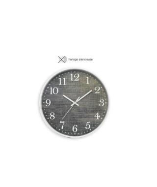 CASITA Horloge effet matiere jean - Ø30 x 4,5 cm - Couleur bleu jean