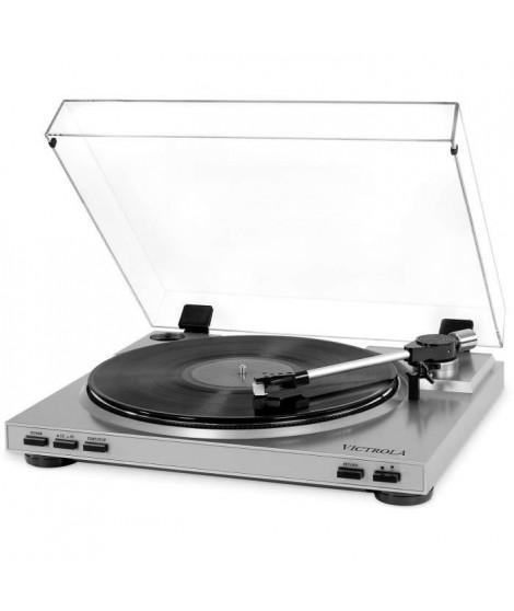 VICTROLA Pro Platine Vinile Semi-Automatique USB - Vinyle a MP3 - Silver