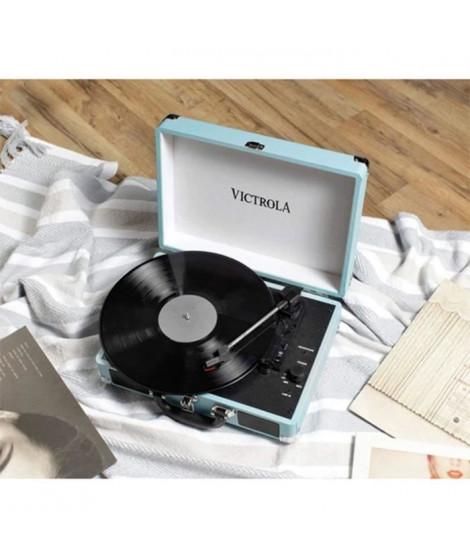 VICTROLA Platine Vinyle Valise Vintage portable Bluetooth - Tourquoise