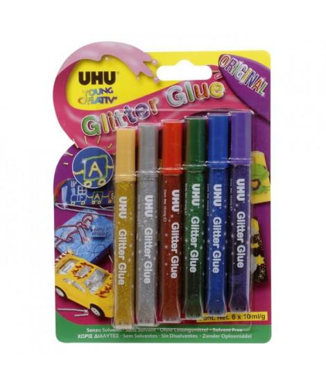 UHU Young Creativ' Glitter Glue Original 6 x 10 ml