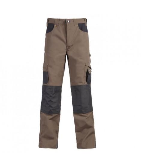 NORTH WAYS Pantalon de travail Adam - Mixte - Brun / Anthracite