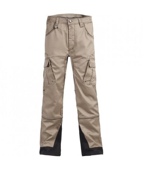 NORTH WAYS Pantalon de travail Antras - Mixte - Beige / Noir