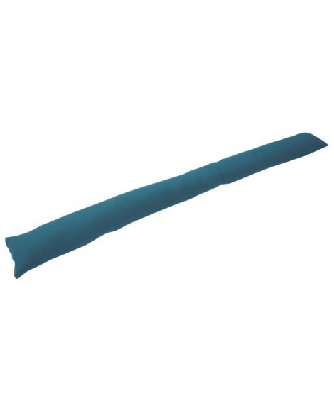 Boudin de porte 100% coton uni - 90x10 cm - Bleu canard