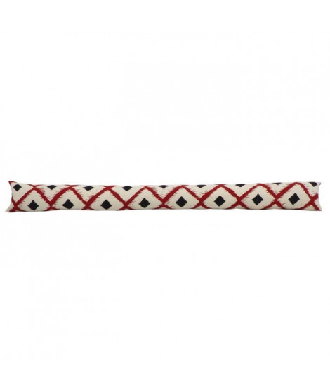 Bas de porte 100% coton imprimé BOHO 90x10cm - Rouge