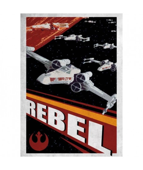 Poster métallique Star Wars Galactic Propaganda : Rebel