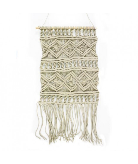 Tissage / Suspension murale Macrame - 45 x 50 cm - Marron naturel