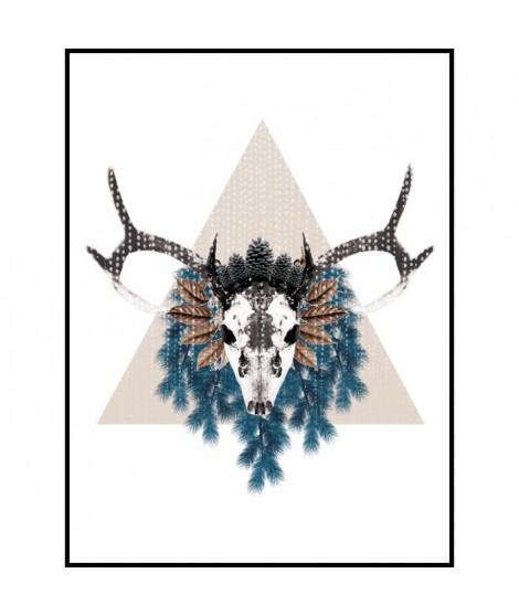 Image encadrée Albatre Pearl - Imprimée haute définition puis laminée sur MDF - 30x40 cm - Noir