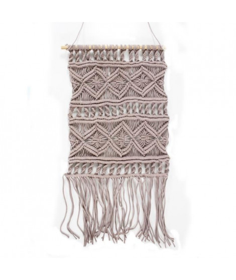 Tissage / Suspension murale Macrame - 45 x 50 cm - Violet clair