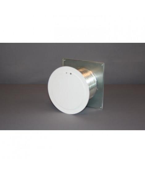 SO STEEL Kit d'entrée d'air extérieur indirect - Ø 125 mm - Blanc