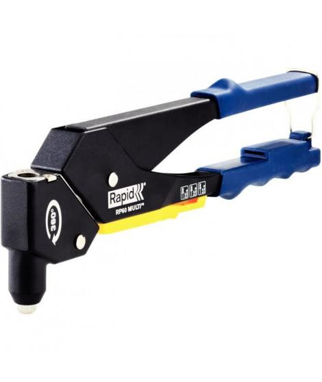 RAPID Pince a riveter RP60 MULTI tete pivotante en coffret Kit RP40 + 5x50 rivets + 3 forets