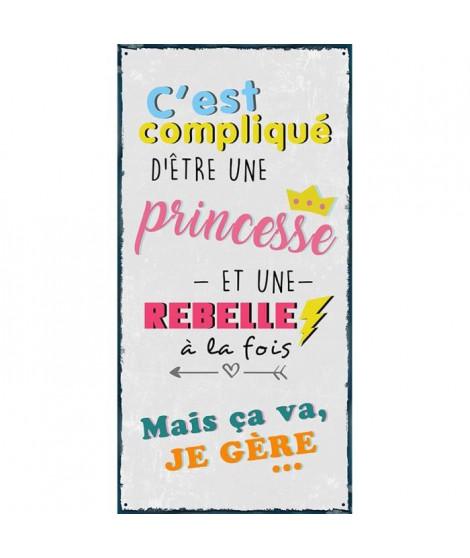 DECO WORD Image contrecollée 40x20 cm Princesse