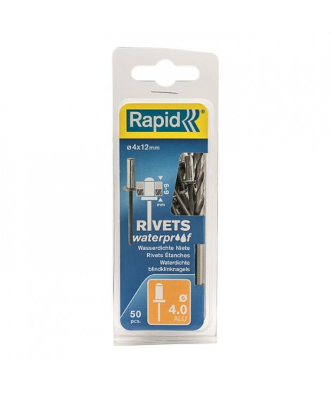 RAPID Rivets étanches 4x12mm en alu