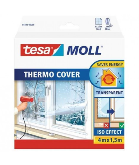TESA Film de survitrage Thermo Cover - 4 m x 1.50 m - Transparent