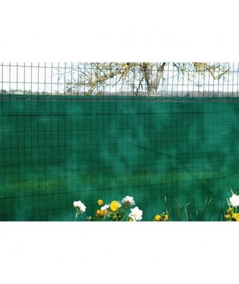 Brise vue vert 90 g/m² occultation a 75% 1,20 x 10 m