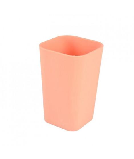 Gobelet Vitamine effet Soft Touch - Plastique - Orange corail
