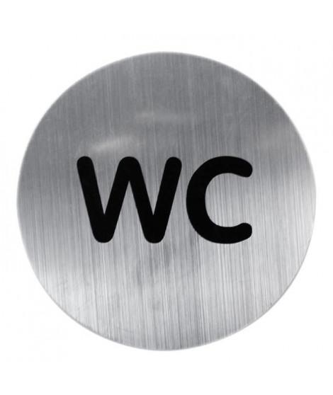 RIDDER Plaque métallique ?WC?