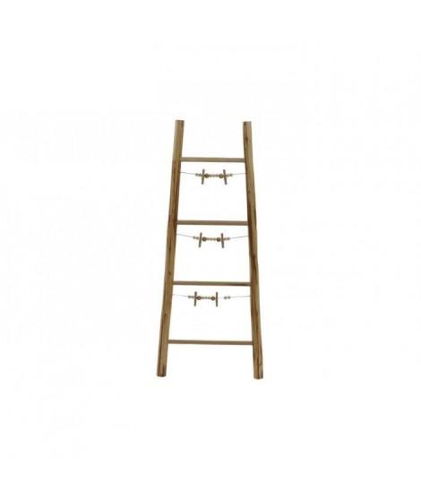 Porte-photos escalier Corde en bois - 44 x 4,5 x 105 cm
