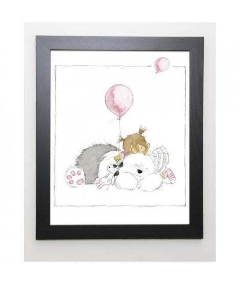 SPENCELEY Image encadrée Children's World III - 47x57 cm - Blanc