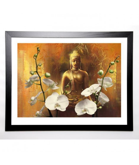 WU Image encadrée Samadhi I 67x87 cm Or