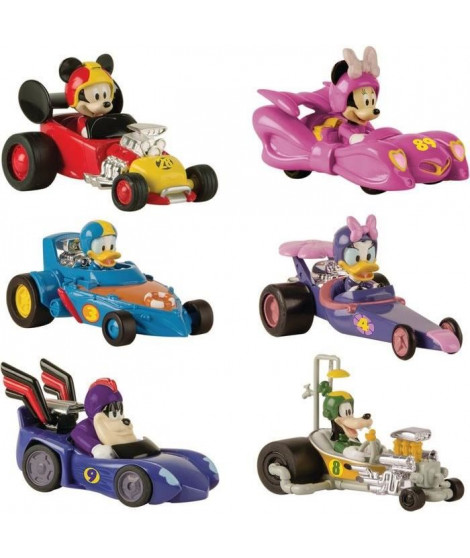 MICKEY ROADSTER RACERS Voiture Dingo Pack Mickey & Ses Amis Top Départ